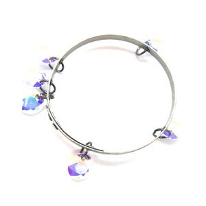 THUNDERBIRD OPAL DIAMOND SILVER BANGLE NEW
